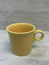 Fiesta HLC Homer Laughlin Sunflower Yellow 10.25 oz Coffee Mug Cup, USED SEE PIC - $14.84