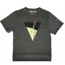 Tintin grey Lunar Rocket t-shirt Official Tintin Product Moulinsart