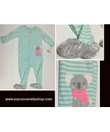 Carters One Piece Sleeper 18 MOS Non Slip Footies Puppy Striped NWT - $9.99