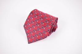 Robert Talbott BoC Silk Neck Tie In Red w/ Black, Light Blue & Gold Geom... - $13.20