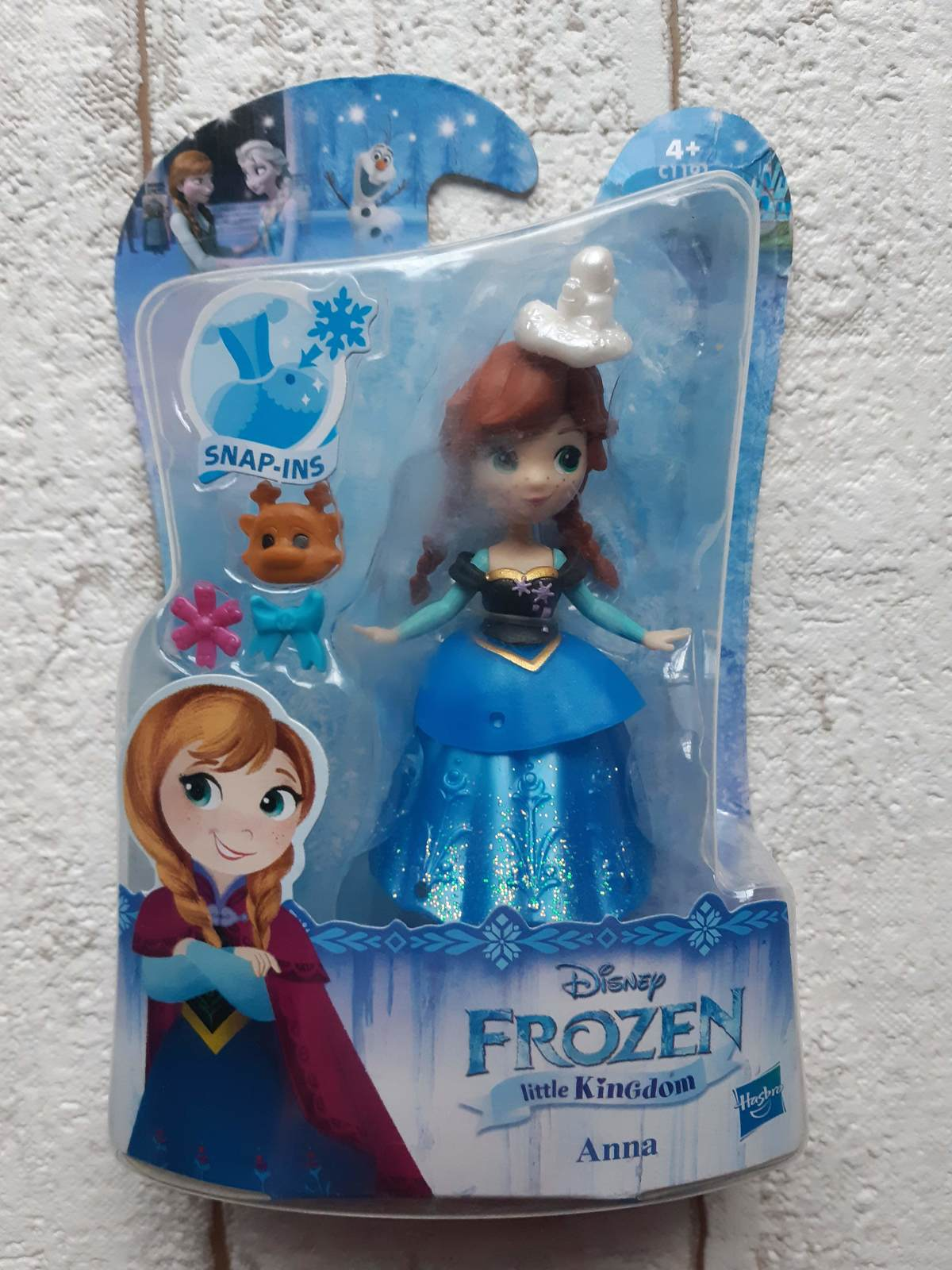 Primary image for Disney Frozen Little Kingdom Anna Doll snap-ins Hasbro C1191