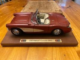 1957 Chevy Corvette Roadster 1:24 Scale Diecast Metal Model Car image 1