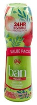 Ban Deodorant 3.5 Ounce Roll-On Twin Pack 24 Hour Regular 103ml 3 Twin Packs