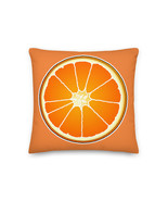Orange Pillow Fruit Cushion Best Orange Food Pillow Gifts For Kids Him Her - $32.00+