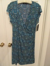 APT 9 WOMEN'S FAUX WRAP DRESS MOSAIC TILE XLARGE NWT - $22.99