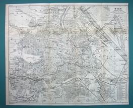 "1905 MAP Baedeker - AUSTRIA Greater Vienna Town Plan 12.5 x 15"" (32 x 38... - $11.82"