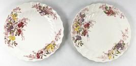2 Spode FAIRY DELL Bread Butter Plate Copeland England Vtg Floral Swirl ... - $12.86