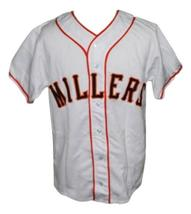 Willie Mays Minneapolis Millers Retro Baseball Jersey Button Down White Any Size image 4