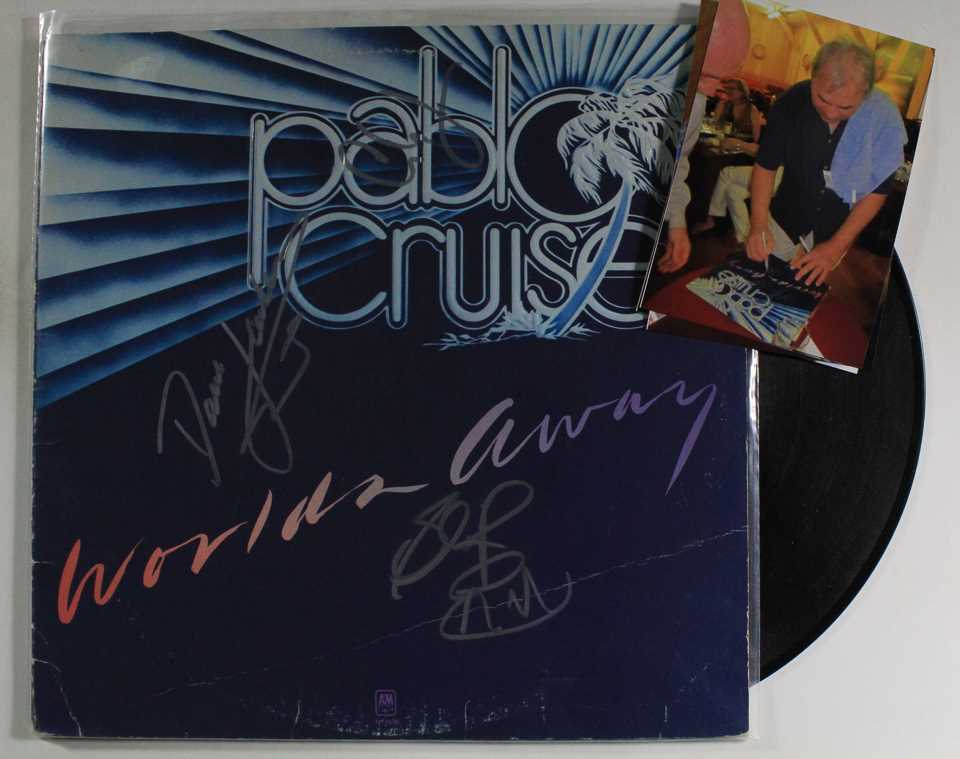 Primary image for Pablo Cruise Group Signed Autographed Record Album w/ Proof Photos