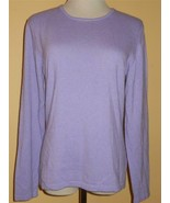 JUST BIRDIE Sz L Lilac Purple Wool Blend Sweater Pullover Top MINT Italy... - $23.16