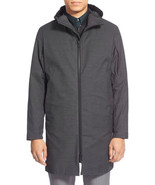 Theory Mens Coat Hallsey Berne 3 IN 1 Hooded Jacket  Charcoal Size L XL ... - $489.99