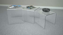At Home USA Calice Coffee Table in Clear Lucite Stacking Modern Style - €216,88 EUR