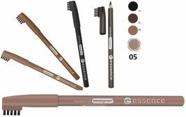 Essence Eyebrow Designer Brow Pencil Comb Brush On The Cap Black Brown Blonde - $8.50