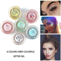 6 Colors Sparkle Glitter Eyeshadow Shiny Shimmer Highlighter Waterproof ... - $3.99