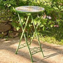 Zaer Ltd. Mosaic Tile Furniture (Small Accent Table, Sydney Green) - $89.95