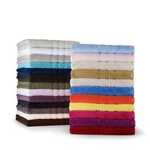 PALMER HAND TOWEL RALPH LAUREN Choose Pale Flannel Grey or Burnished Cha... - $12.99