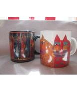 "Laurel Burch-two cat mugs-""Wild Cats""-Santa Fe Felines-1992 & 2014 - $25.00"