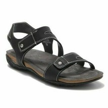 Khombu Women's Ava Sport Comfort Footbed Outdoor Black Sandals