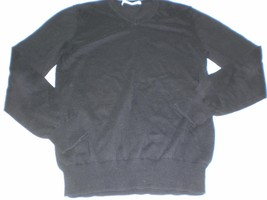 M4935 Mens OLD NAVY Black Cotton Knit VEE NECK SWEATER Small - $14.50