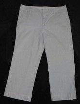 Gap Stretch Cropped Capri Gray Pants Size 8R 8 Regular - $18.50