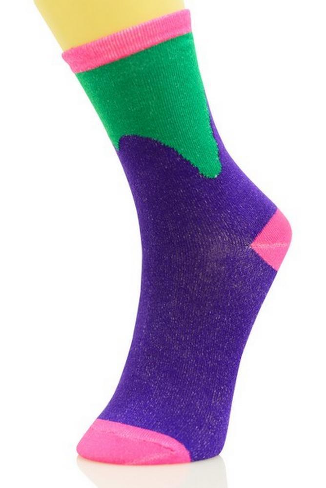 6 Pairs Women Comfort Socks Girls Flower Blossom Long Crew Pack 9-11 Lot