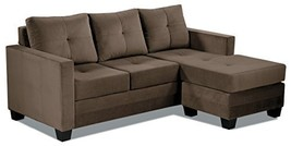 "Homelegance Phelps 78"" x 58"" Microfiber Reversible Chaise Sofa, Brown - $759.23"