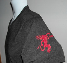 NEW MENS FIREBALL T SHIRT MEDIUM FLAME BREATHING DRAGON ON SLEEVE - $23.71