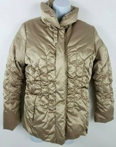 Via Spiga Gold Puffer Jacket Women Size L  - $47.51