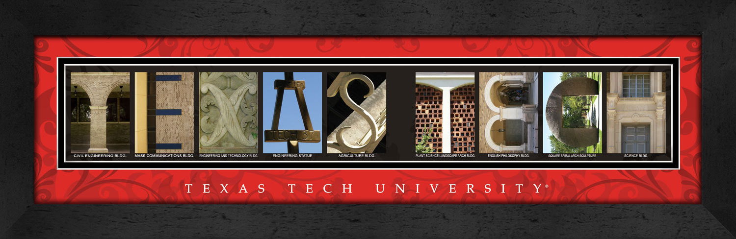 Primary image for Texas Tech University Officially Licensed Framed Campus Letter Art