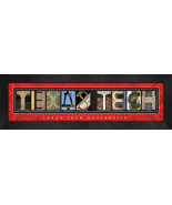 Texas Tech University Officially Licensed Framed Campus Letter Art - $39.95