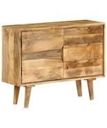 vidaXL Solid Mango Wood Bedroom Sideboard Side Stand Storage Drawer Cabinet - $228.99