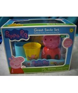 New Disney PEPPA PIG Children's Great Smile TOOTHBRUSH SET Oral Care Age... - $9.55