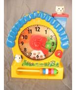 Redbox Infant Kids Moving Activity Plastic Toy Clock No 2003 Retro  - $19.80
