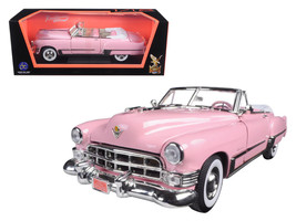 1949 Cadillac Coupe De Ville Convertible Pink 1/18 Diecast Model Car by Road Sig - $62.49
