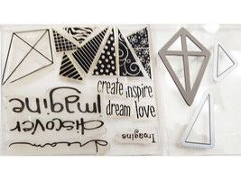 Kite and Sentiments Clear Stamp Set with Coordinating Dies