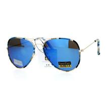 Camo Camouflage Print Fabric Frame Aviator Sunglasses Unisex UV 400 - $8.95