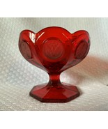 """Fostoria coin small ruby red compote,candy 3 3/4"""" high, nice for Christm... - $14.84"""