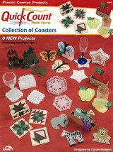 Quick Count Plastic Canvas Collection of Coasters Annie's Attic Leaflet ... - $6.95