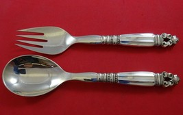 Acorn by Georg Jensen Sterling Silver Salad Serving Set 2pc AS HH GI Mar... - $609.00