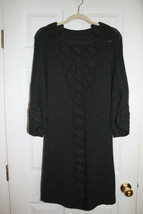 Elie Tahari Gray Wool Sweater Dress Size Medium - $78.00