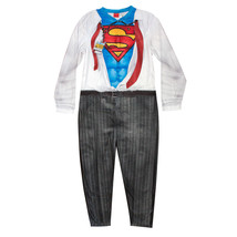 Superman Clark Kent Men's Pajama Union Suit Grey - $35.98