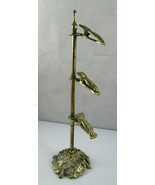 Vintage Glo-Mar Art Works INC Mid Century Victorian Brass Stand Clip Holder - $50.00