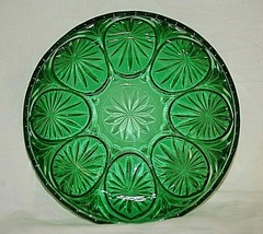 """Medallion Forest Green by Anchor Hocking Glass 8"""" Serving Bowl Star & Cameo MCM - $21.77"""