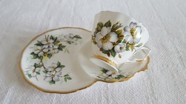 Vintage Royal Albert Tea cup and plate Mix Set White Dogwood or Pink Roses - $19.99