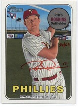 2018 Topps Heritage High Number Real One Autographs Red Ink Rhys Hoskins /69 - $250.00
