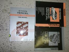 1999 Toyota Tercel Servizio Negozio Riparazione Manuale Set OEM Fabbrica - $296.98