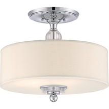 Quoizel DW1717C Downtown Semi-Flush Ceiling Lighting, 3-Light, 300 Watts... - $264.73