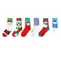 5 Pack Men's Socks Christmas Sock Cotton Socks Crew Socks Calf Socks Fall/Winter