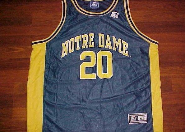release date: 1f0c6 55b72 57. 57. Previous. Notre Dame Fighting Irish 20 Laphonso Ellis Basketball  NCAA Starter Jersey 52 XL