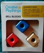 Vtg 1969 Creative Playthings Wooden Bell Blocks in Box Wood - $29.99